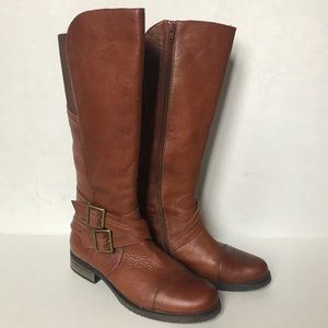 MIZ MOOZ Kirsten Brown double buckle riding boots